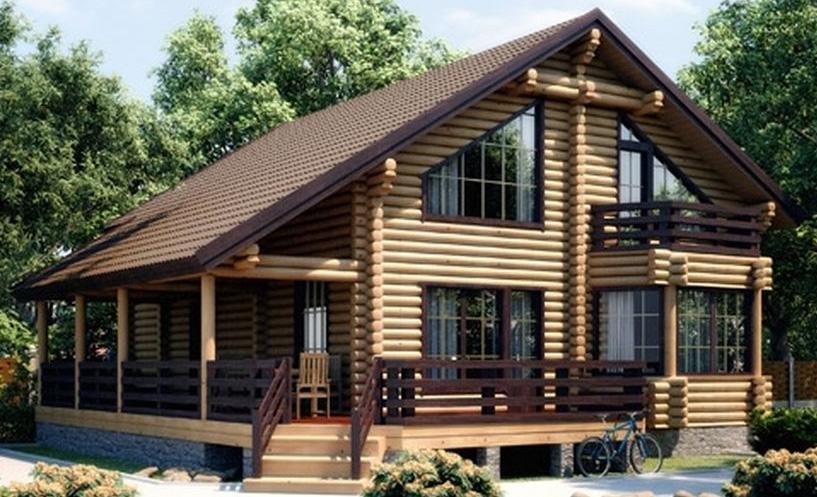 Проекты домов из оцилиндрованных бревен