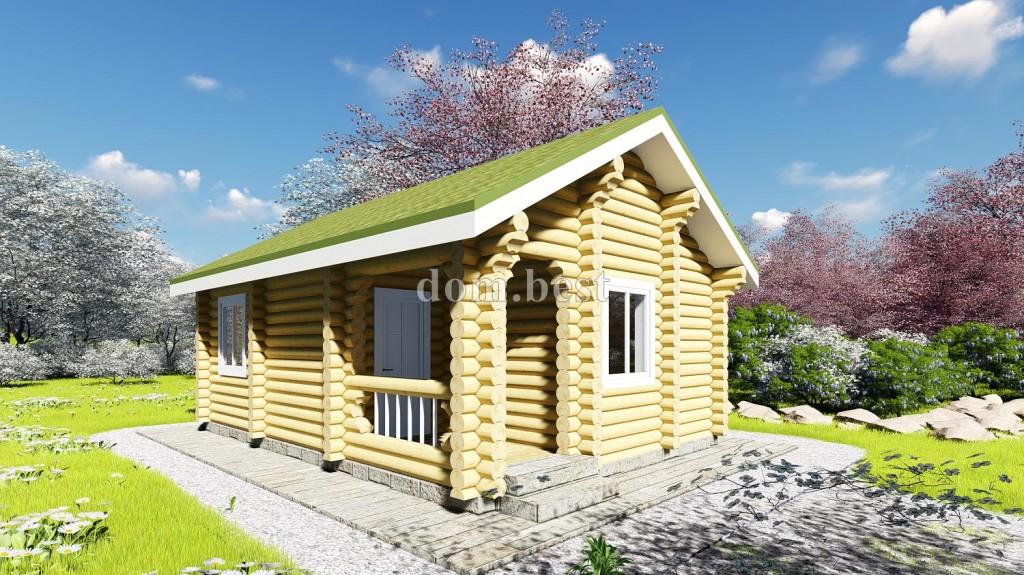 Дома из оцилиндрованного бревна 100 кв м