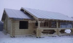 Закончили строительство бани в п. Искра, Рязанского района, Рязанской области